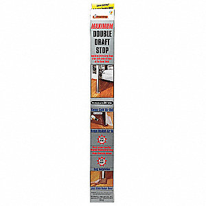 "Nylon, Draft Seal, Black, 3 ft. Overall Length, 36"" Overall Width"