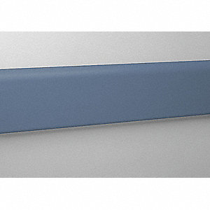 "Wall Protection Guard, Windsor Blue, Vinyl/Aluminum, 144"" Length, 4"" Height, 3/4"" Thickness"
