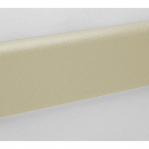 "Wall Protection Guard, Ivory, Vinyl/Plastic, 144"" Length, 6"" Height, 1"" Thickness"