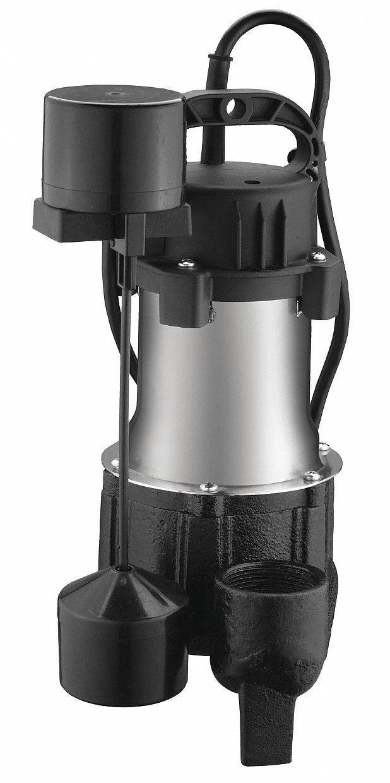 Grainger Approved 1 2 Hp Submersible Sump Pump Vertical