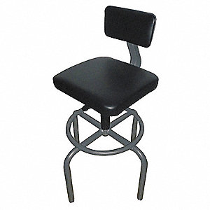 Pneumatic Task Chair,250 lb,Gray