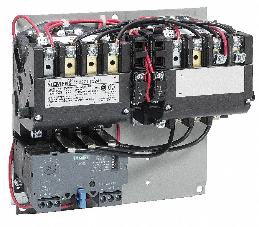 Siemens nema magnetic motor starter 120 to 240vac coil for Siemens motor starter catalog pdf