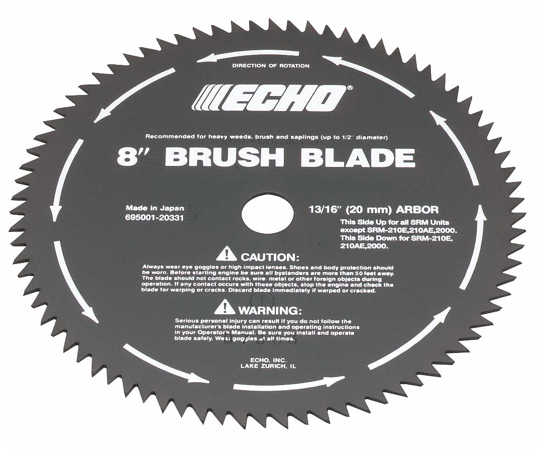 """Srm Furnitures: ECHO Brush Cutter Blade, 8"""" Dia., 80 Tooth"""