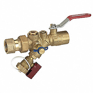 Combination Strainer/Ball Valve, FNPT x FNPT Connection Type, Stainless Steel Screen Material