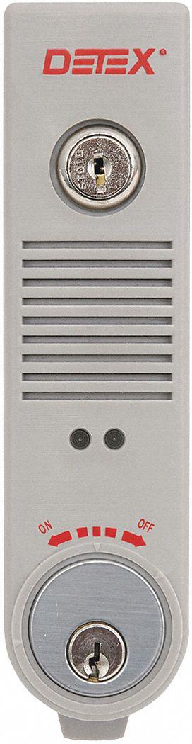 Detex Exit Door Alarm 9v Battery Plastic 100db 44zu93