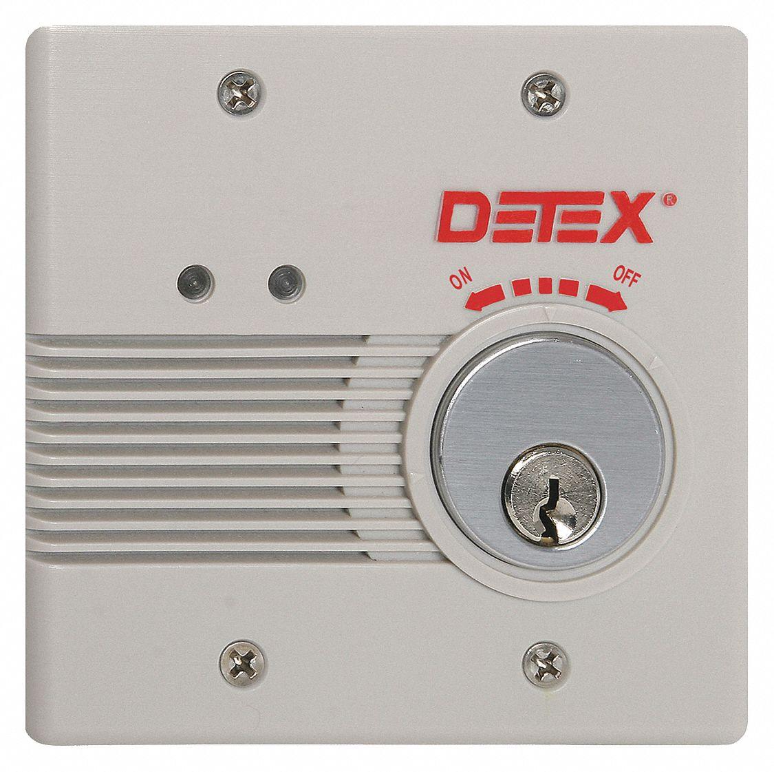 Detex Exit Door Alarm 12 24vdc Horn 100db 44zv20 Eax