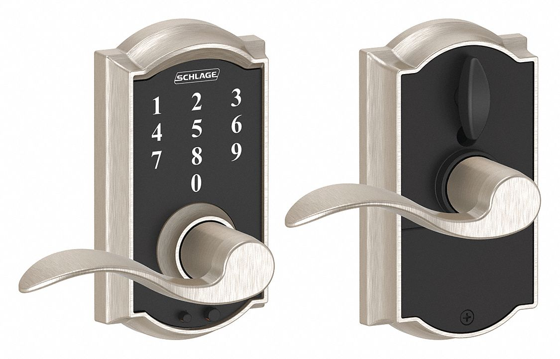 Schlage Residential Electronic Lock Satin Nickel Entry