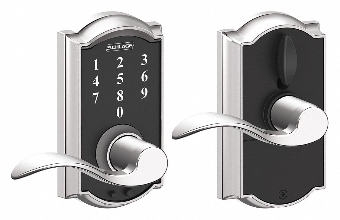 Schlage Residential Electronic Lock Bright Chrome Entry