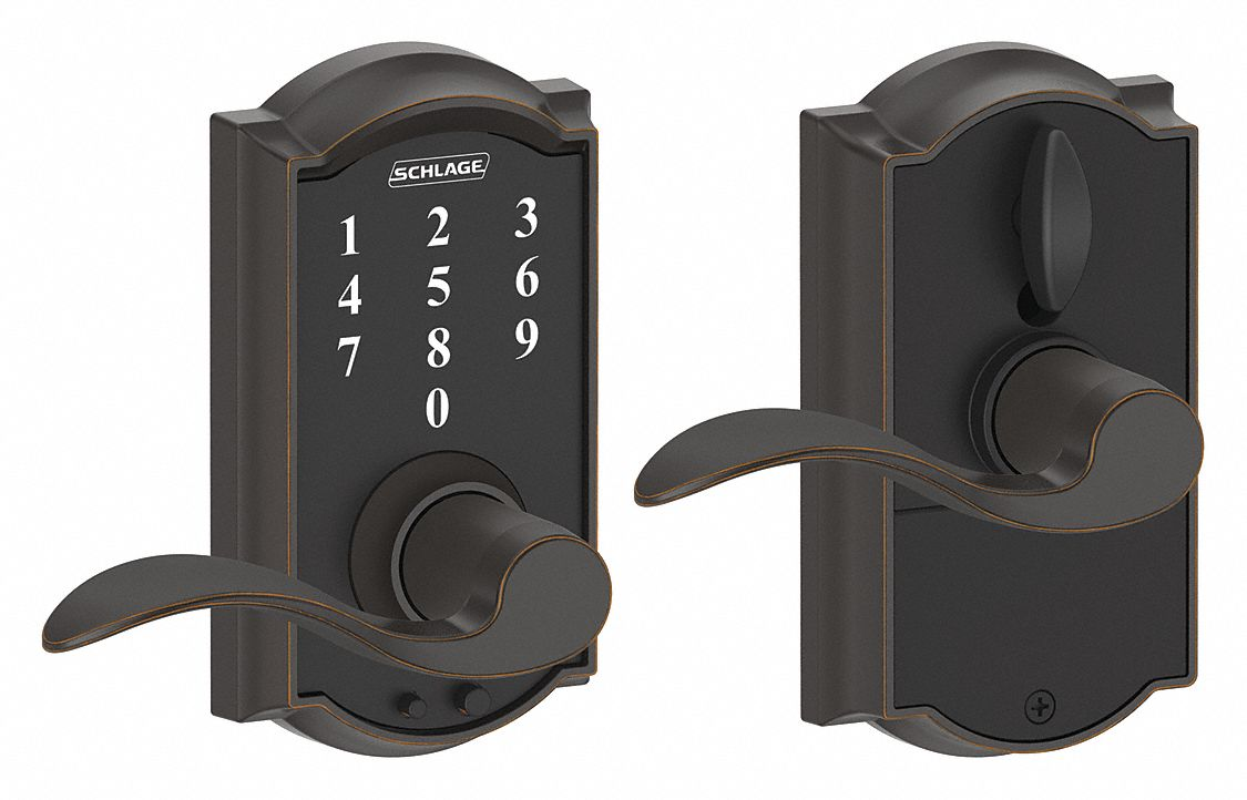 Schlage Residential Electronic Lock Antique Bronze Entry