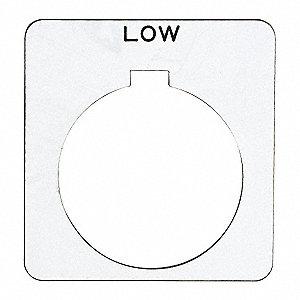 SCHNEIDER ELECTRIC 30mm Square Low Legend Plate, Plastic