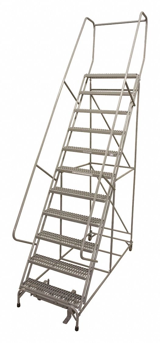 Cotterman 12 Step Rolling Ladder Perforated Step Tread