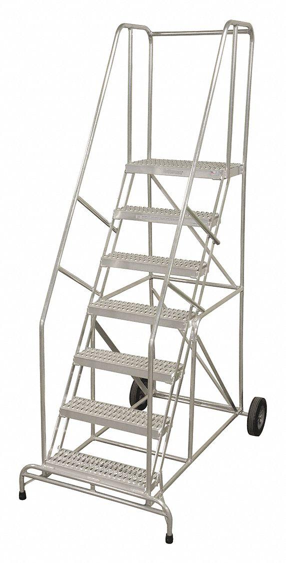Cotterman 10 Step Wheelbarrow Ladder Ribbed Step Tread