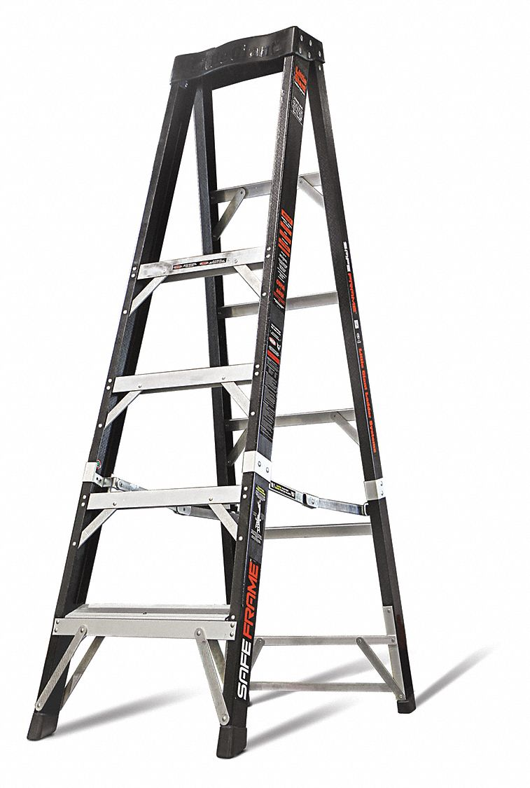 Little Giant Stepladder Safeframe Fiberglass 6 Ft H