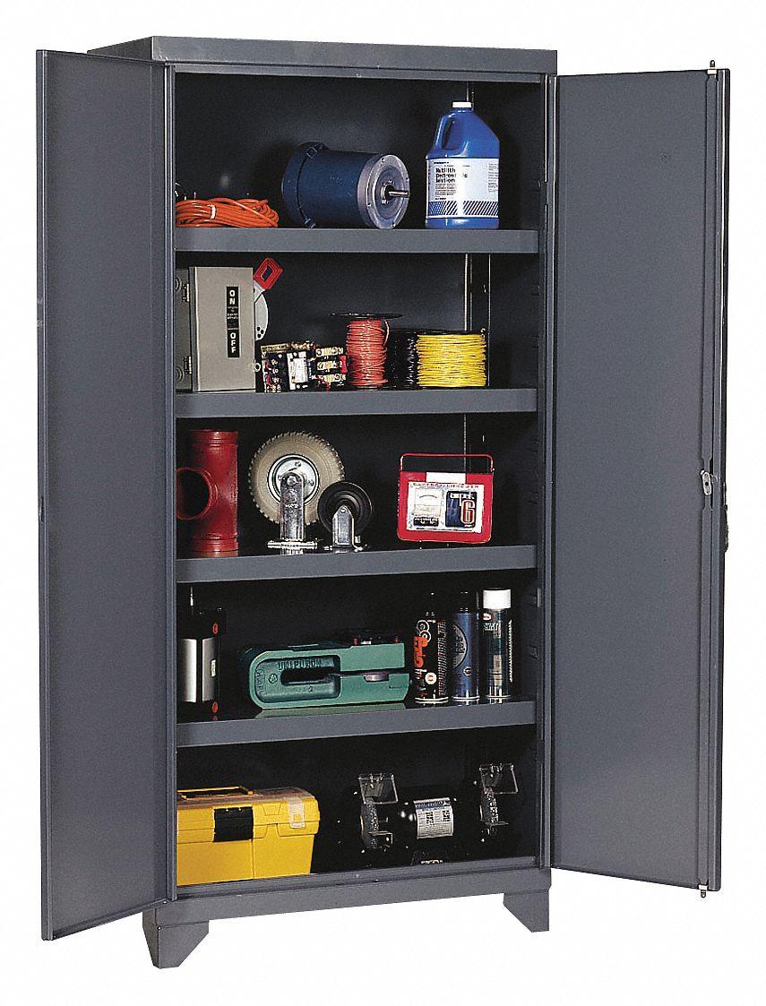 Edsal Heavy Duty Storage Cabinet Gray 78 Quot H X 36 Quot W X 24