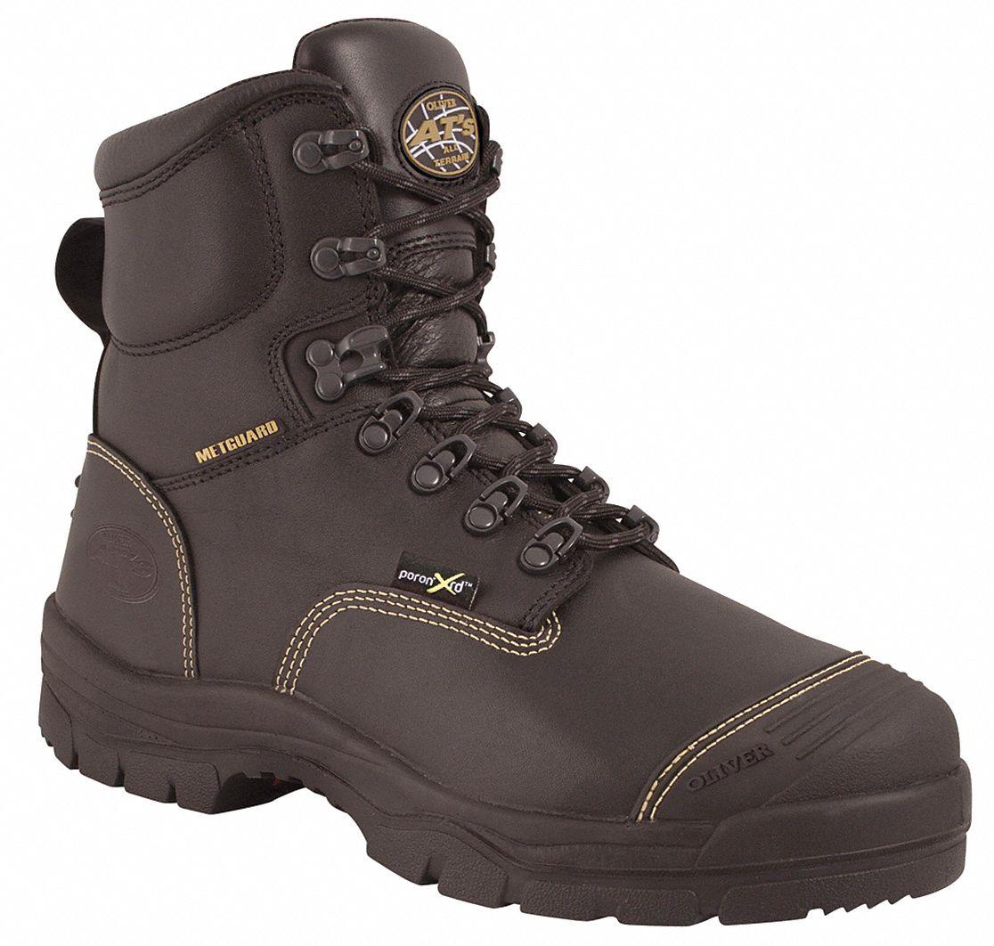Oliver 6 Quot Height Men S Work Boots Steel Toe Type Black
