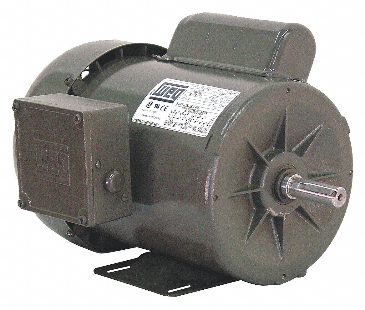 Weg Single Phase Tefc Motor 45kg03 00118es1b56 S Grainger