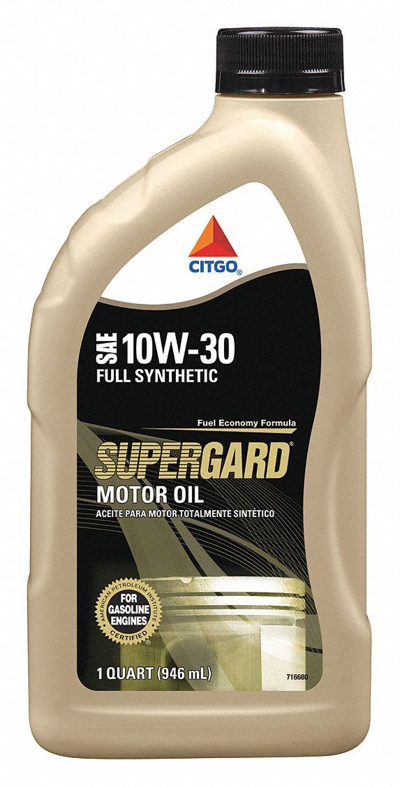 Citgo Engine Oil 1 Qt Bottle Synth Base 45kj19