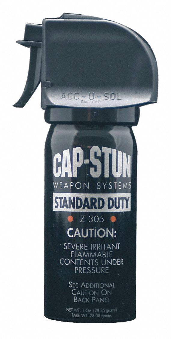 cap-stun pepper spray  black  1 oz   4 4 in  h