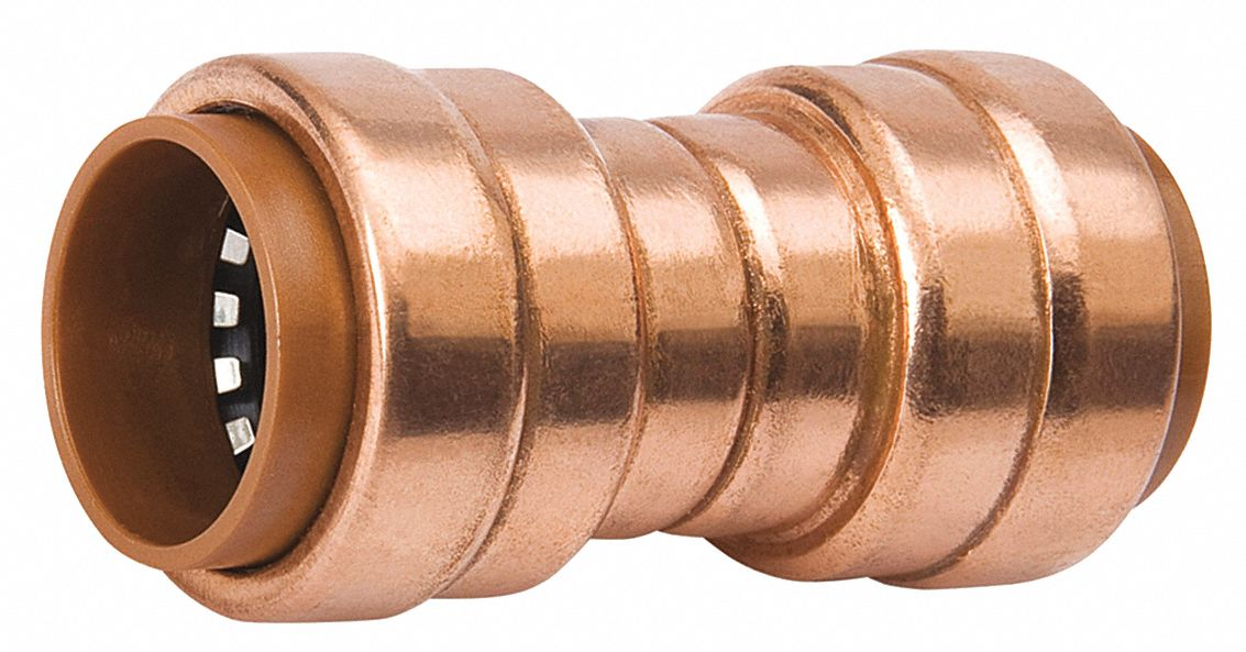 "Small Copper Tubing Sizes: PROLINE Copper Copper Push Fit Coupling, 3/4"" Tube Size"