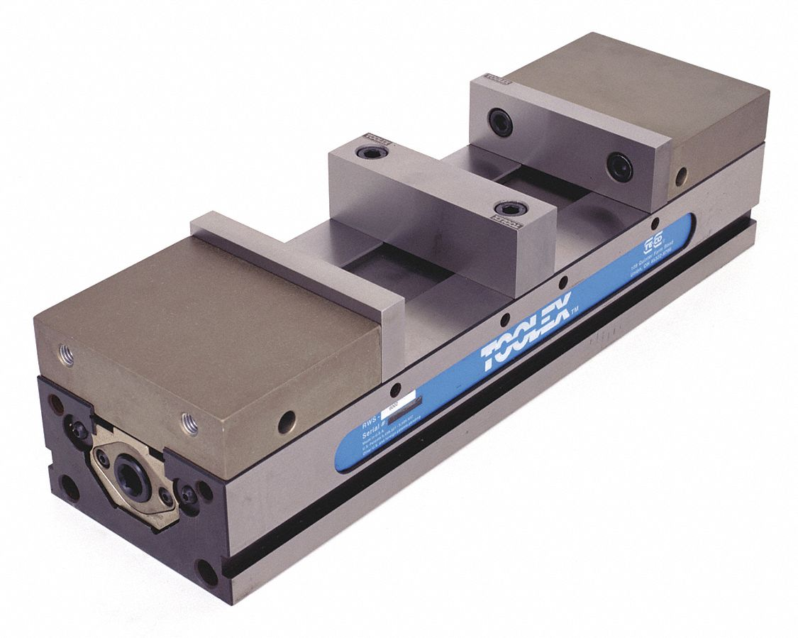 TOOLEX Vise, Double Station with Hard Jaw