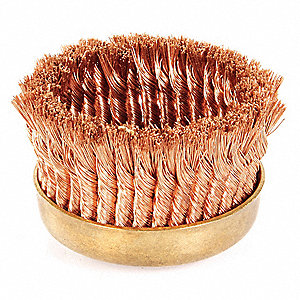 Nonsparking Knot Wire Cup Brush,6 In.