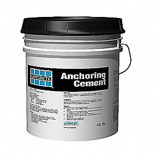 Gray Anchor Cement, 45 lb. Size, Coverage: 0.40 cu. ft.
