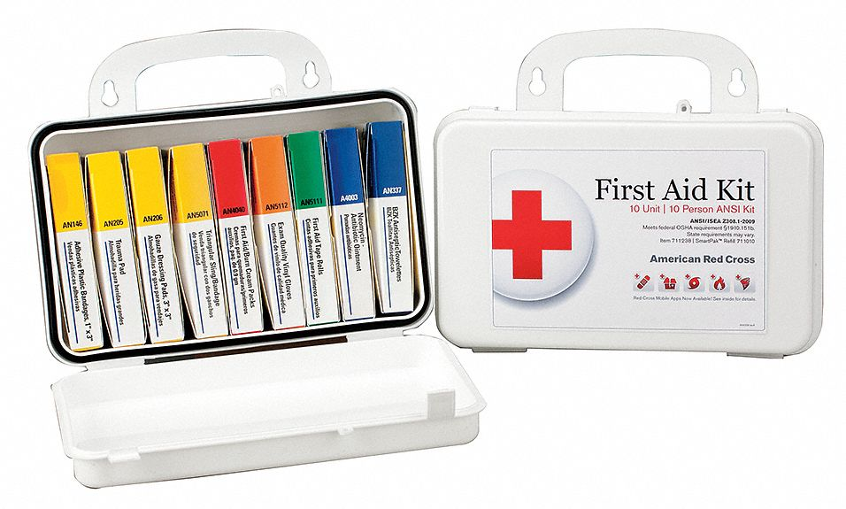 American Red Cross First Aid Kit Kit Plastic Case