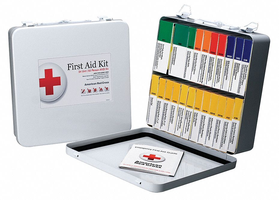 American Red Cross First Aid Kit Kit Metal Case Material