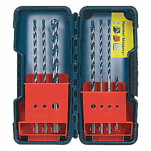 Hammer Drill Bit Set,PowerGrip,7PC