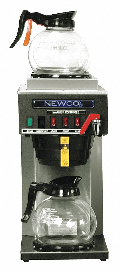 NEWCO COFFEE Brewer, 3 Station in Line, Auto,Faucet - 48FP55FCS-3 - Grainger