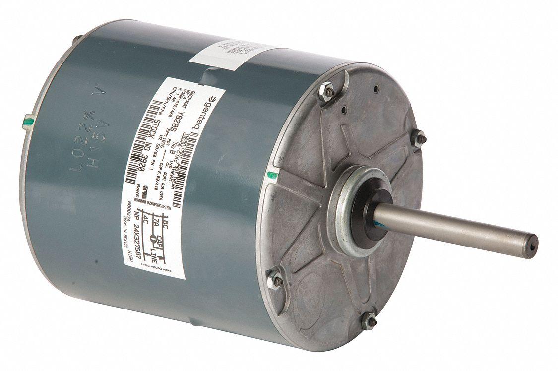 Genteq 2 5 hp condenser fan motor permanent split for Best lubricant for electric fan motor