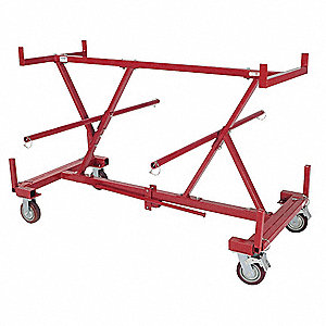 Wire Cart,4 Shelves,1500 Lb Capacity