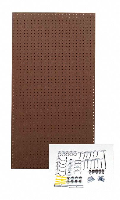 Tempered Wood Pegboard Hardwood Pegboard Panel Kit With 25