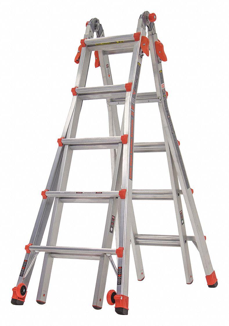 Little Giant 22 Ft Aluminum Multipurpose Ladder 300 Lb