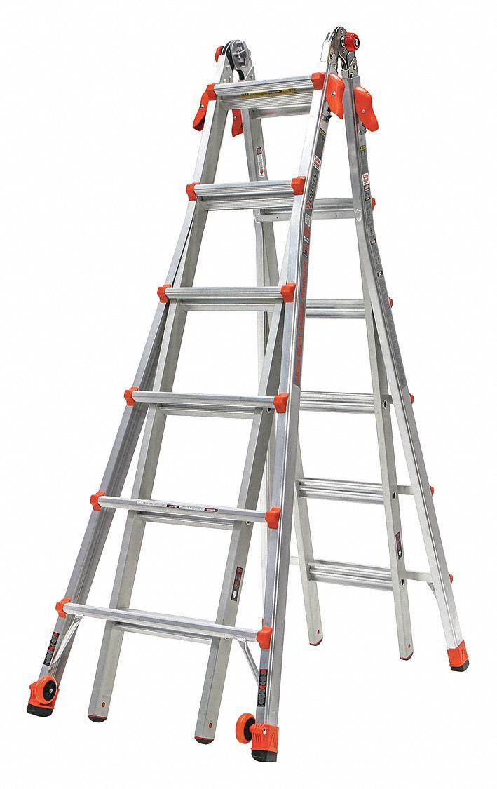 Little Giant Multipurpose Ladder Velocity 300 Lb 26ft