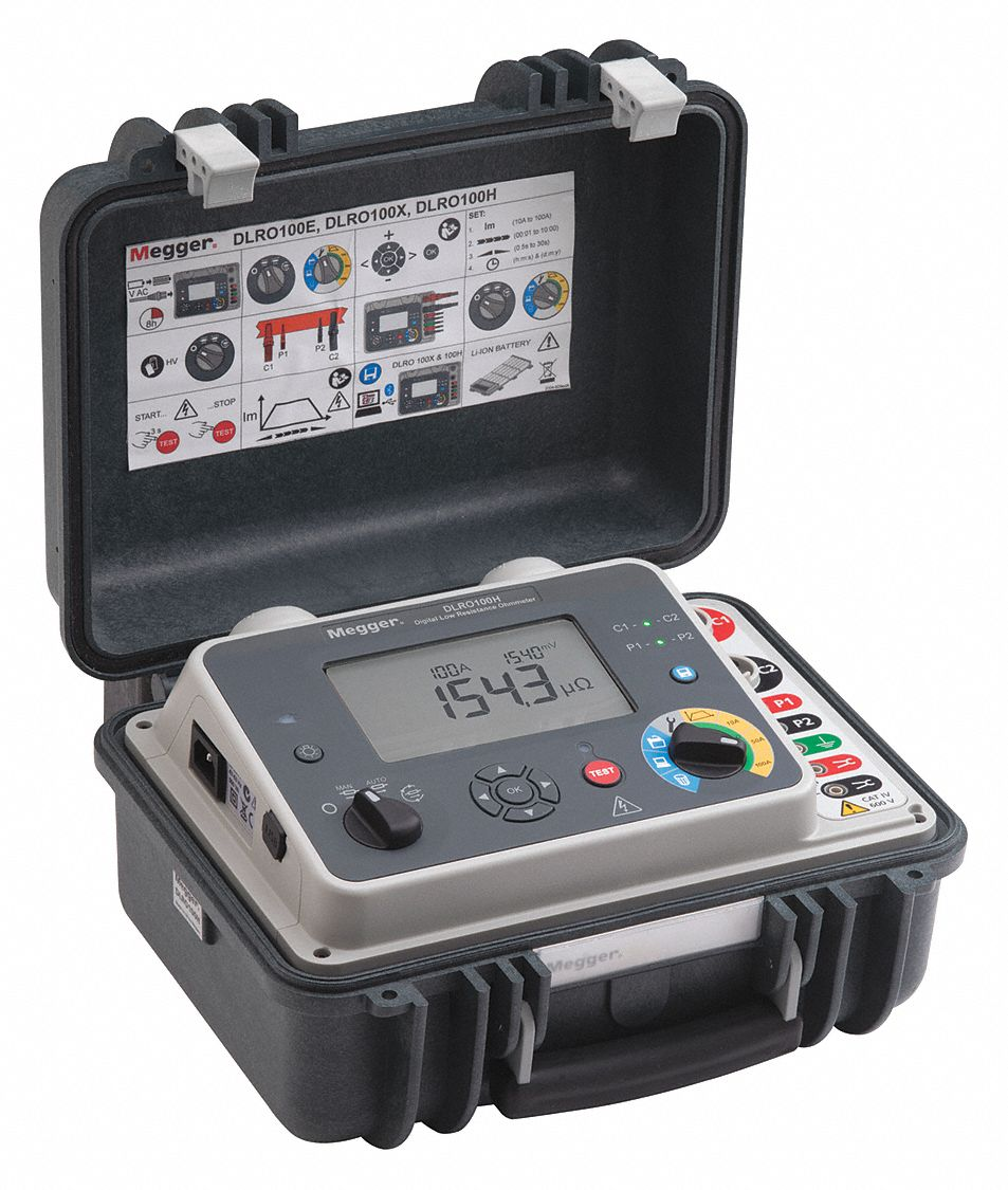 Milli Micro Ohmmeter Or Low Resistance Ohmmeter : Megger low resistance ohm meter usb interface ut