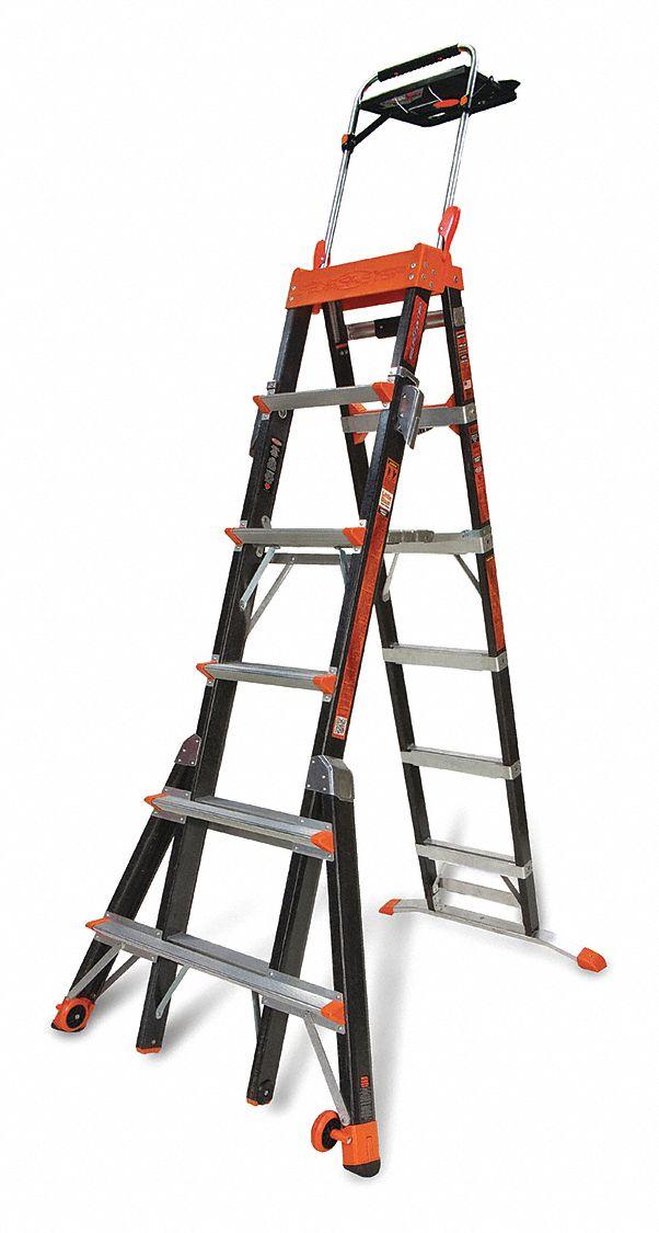 Little Giant 6 To 10 Ft Fiberglass Multipurpose Ladder