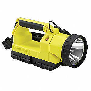 Lantern,4 Cell w/Charger,12VDC,Yellow