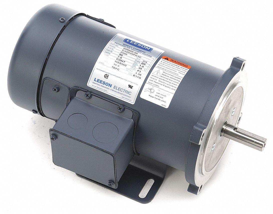 Leeson Dc Permanent Magnet Motor 3 4 Hp 90vdc 48zg62
