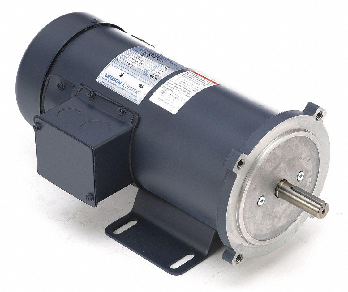 Leeson Dc Permanent Magnet Motor 3 8a 3 4 Hp 48zg65