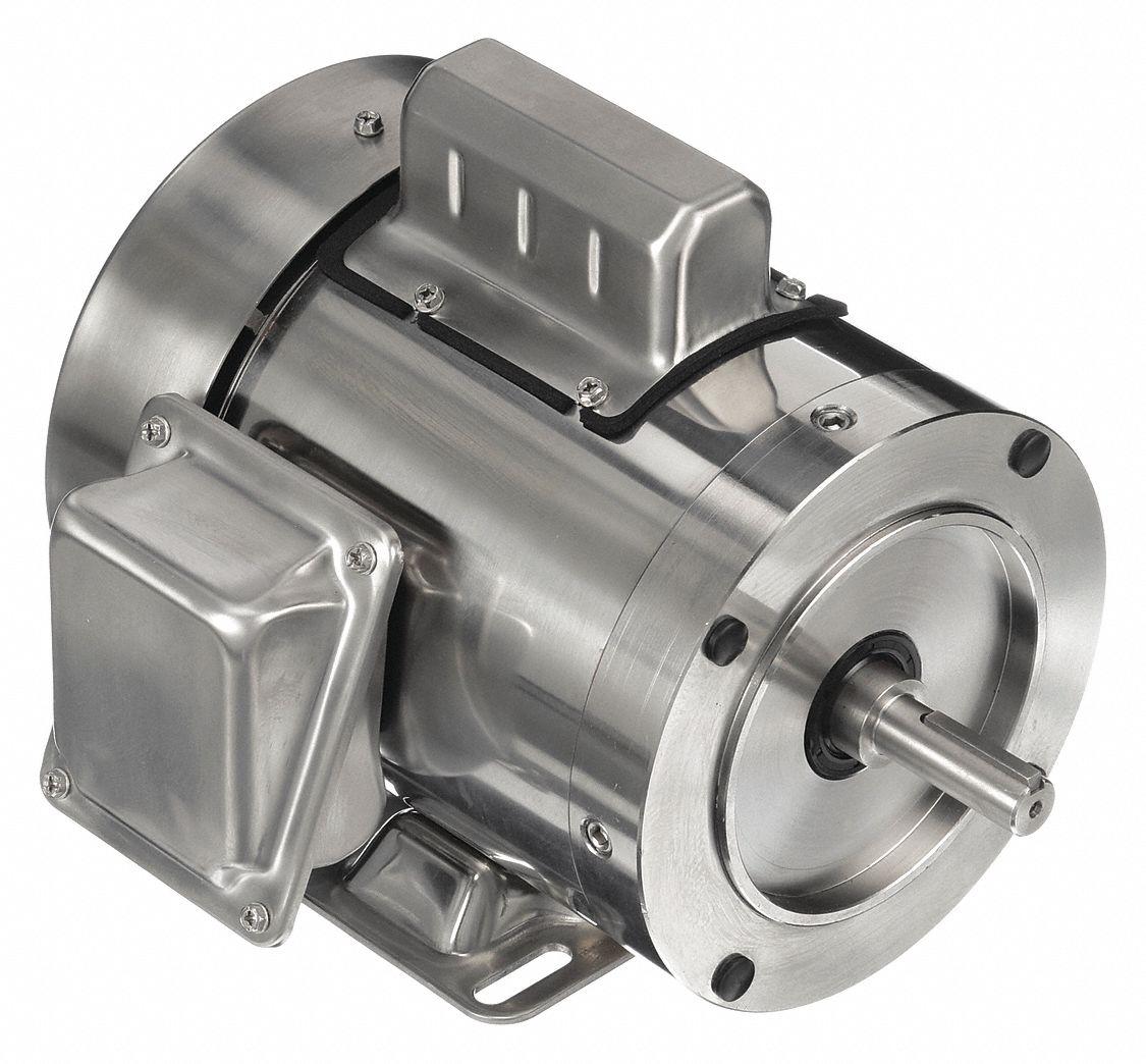 Leeson Washdown Motor 3 4 Hp 3450 Rpm 48zh48
