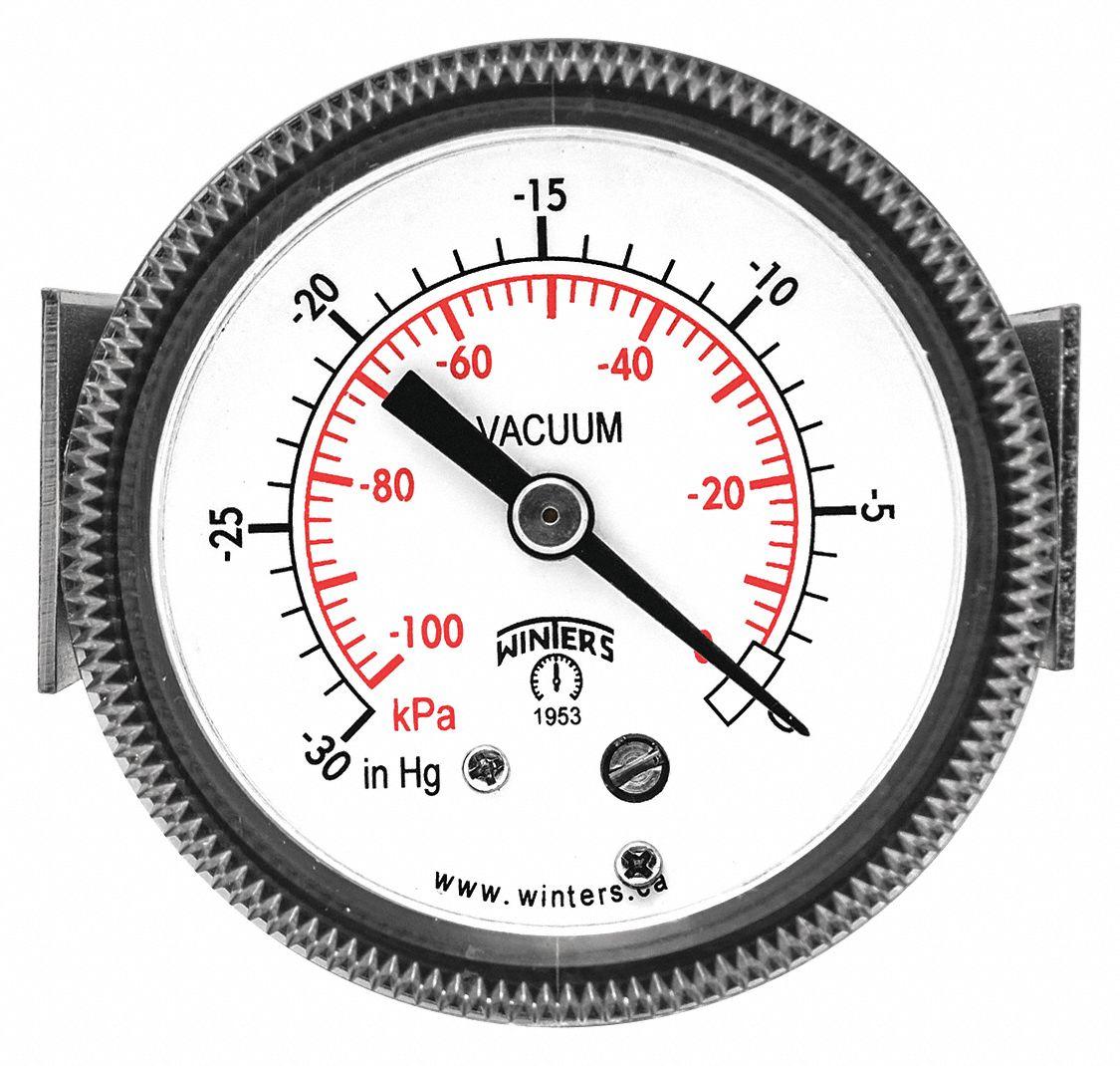 winters instruments 2 u0026quot  general purpose vacuum gauge  -30 to 0 in  hg - 491d49