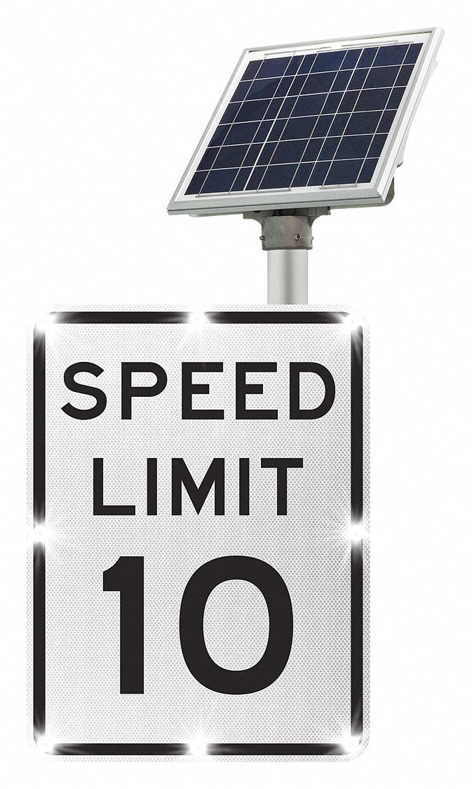 Tapco Speed Limit 10 Led Traffic Sign White Led Color