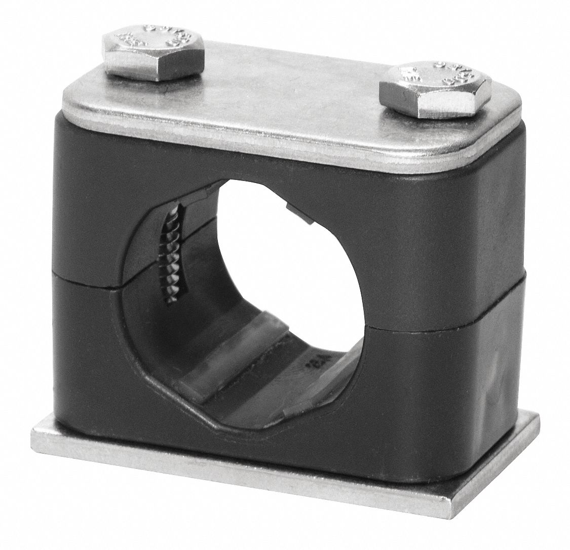 "Tube Clamp Twin 13.5mm 1//4/""n.b Hydraulic Fluid Air Pneumatic Pk2"