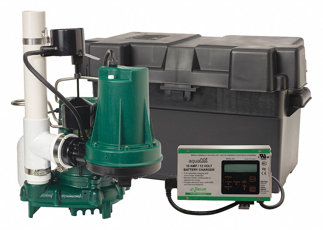 Zoeller Sump Battery Back Up System 2580 Max Flow Gph