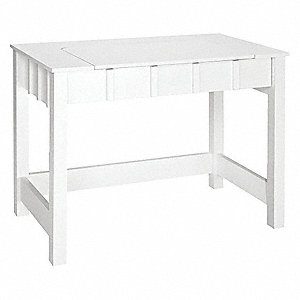 Flip Up Office Desk, 39-1/2 inch W, White by COMFORT PRODUCTS