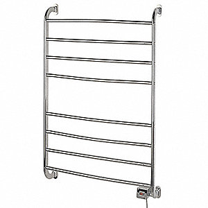 Chrome Towel Warmer, Wall Mounted, 120 Voltage, 105 Watts