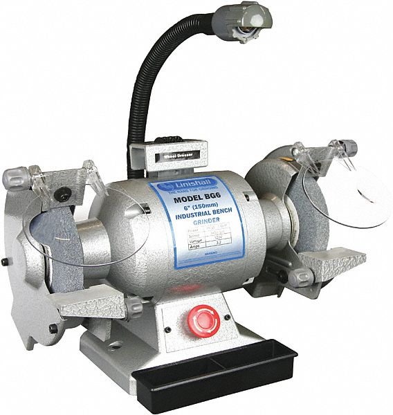 Linishall 6 Quot Bench Grinder 120v 5 8 Hp 1750 Max Rpm 5
