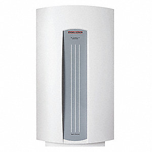 Electric Tankless Water Heater, Undersink, Point-of-Use, 2500/3300 Watts, 14 Amps AC