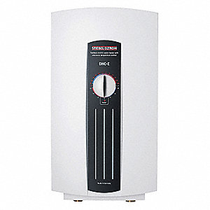 Electric Tankless Water Heater, Undersink, Point-of-Use, 9000/12,000 Watts, 50 Amps AC